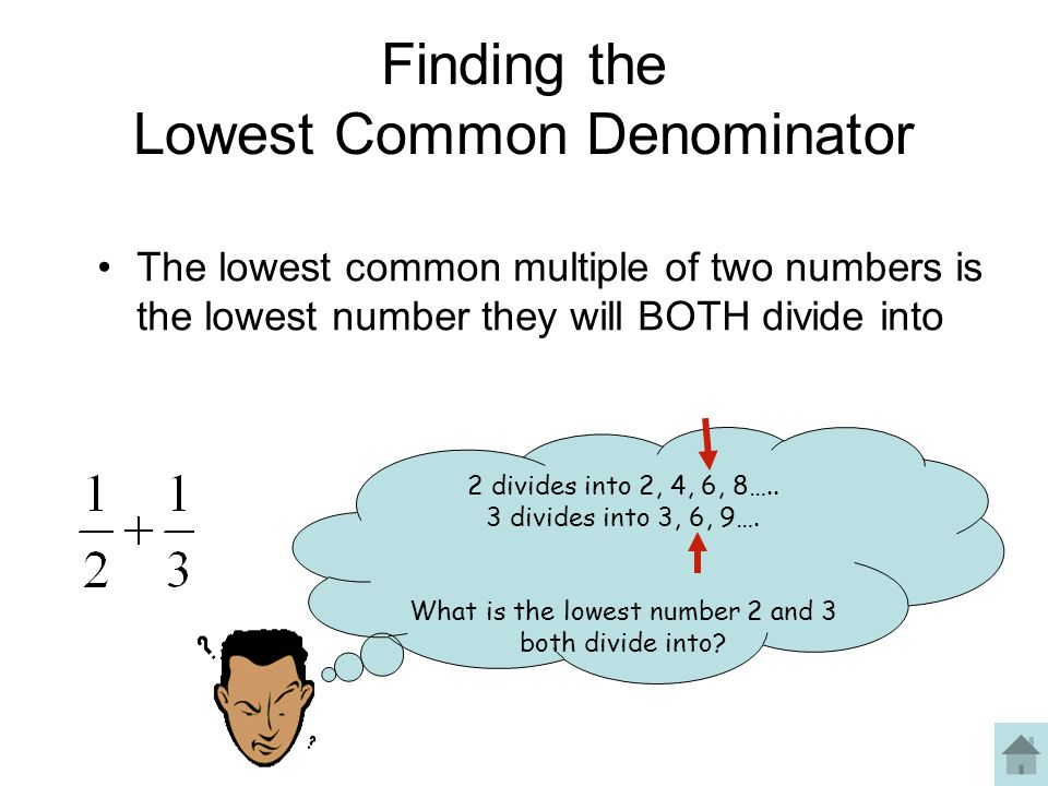 Finding the Lowest Common Denominator