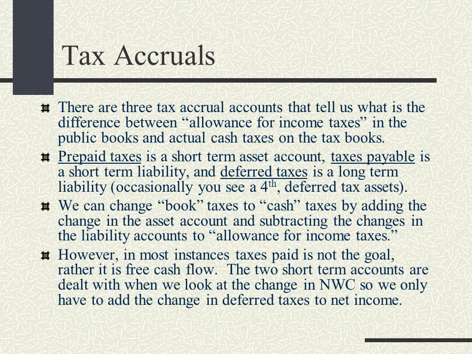 Tax Accruals