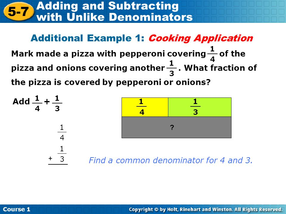 Additional Example 1: Cooking Application