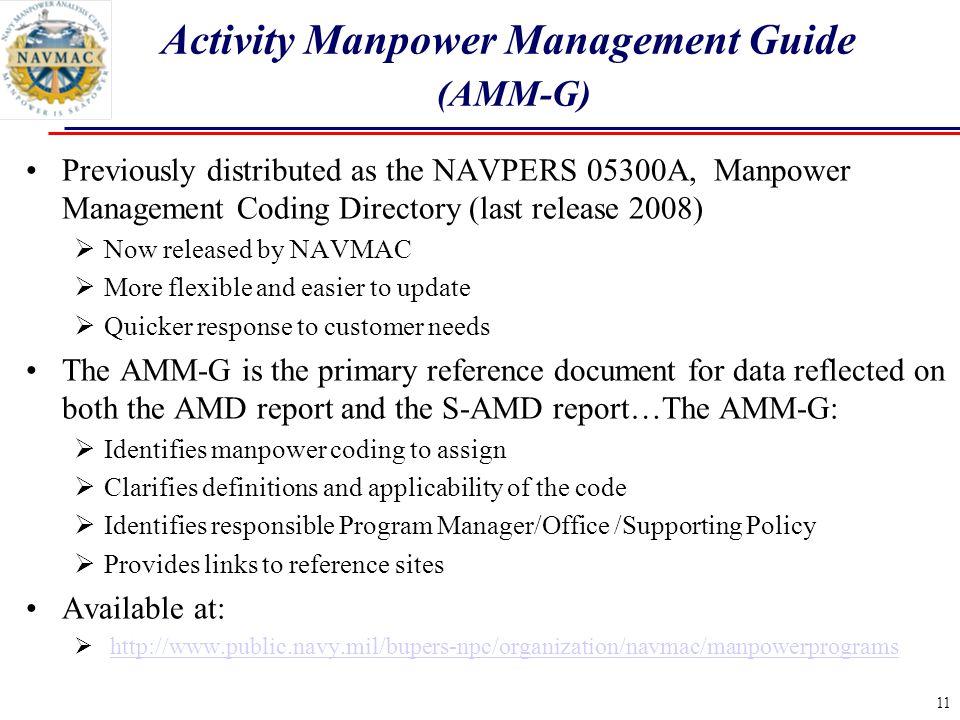 Activity Manpower Management Guide (AMM-G)