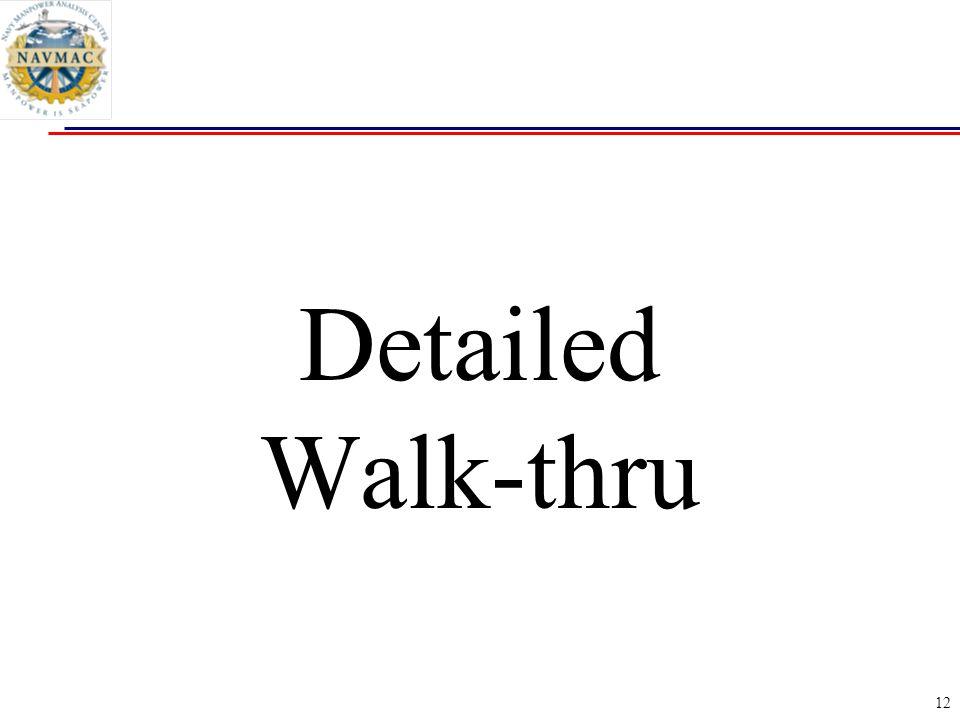 Detailed Walk-thru
