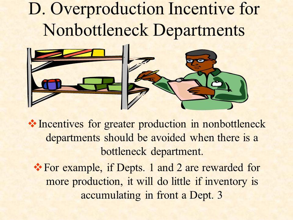 D. Overproduction Incentive for Nonbottleneck Departments