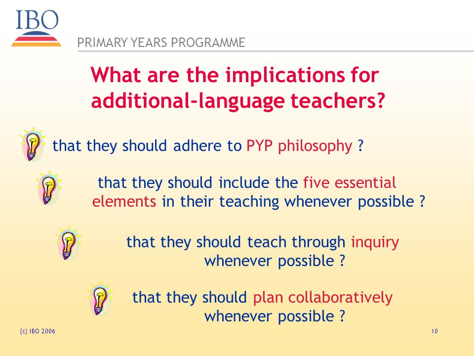 What are the implications for additional-language teachers