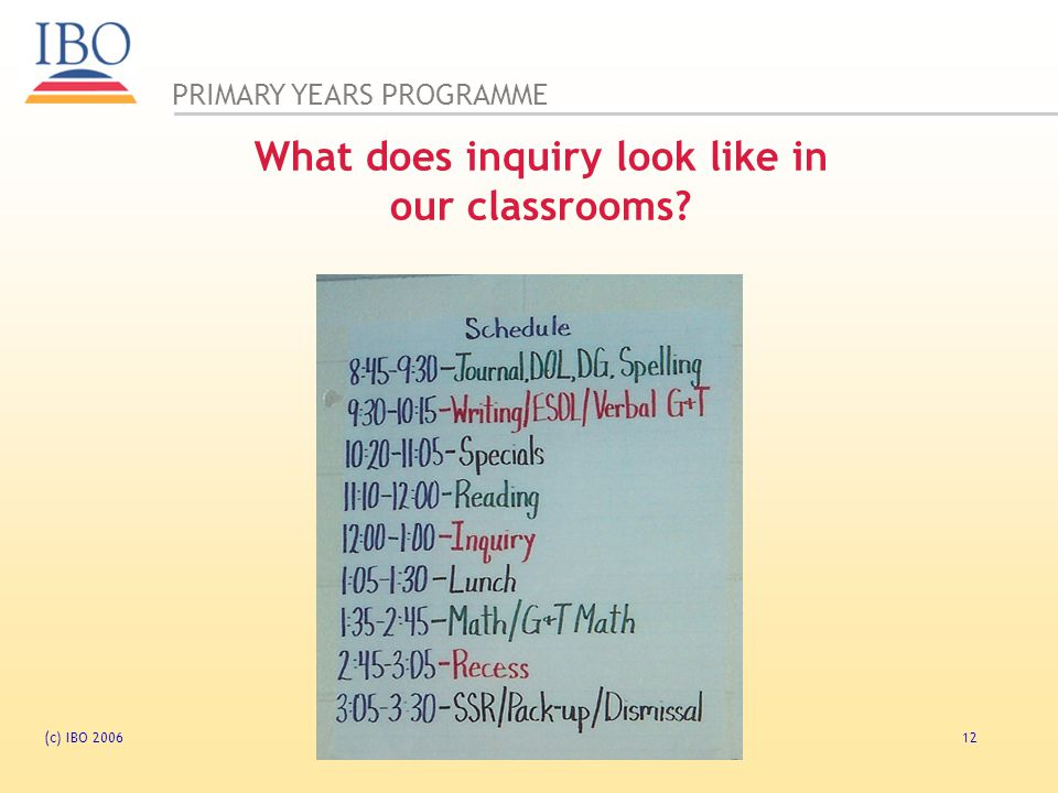What does inquiry look like in our classrooms