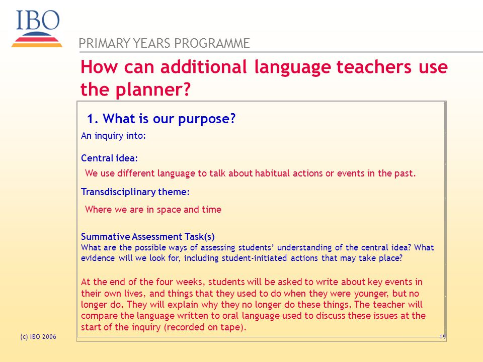 How can additional language teachers use the planner