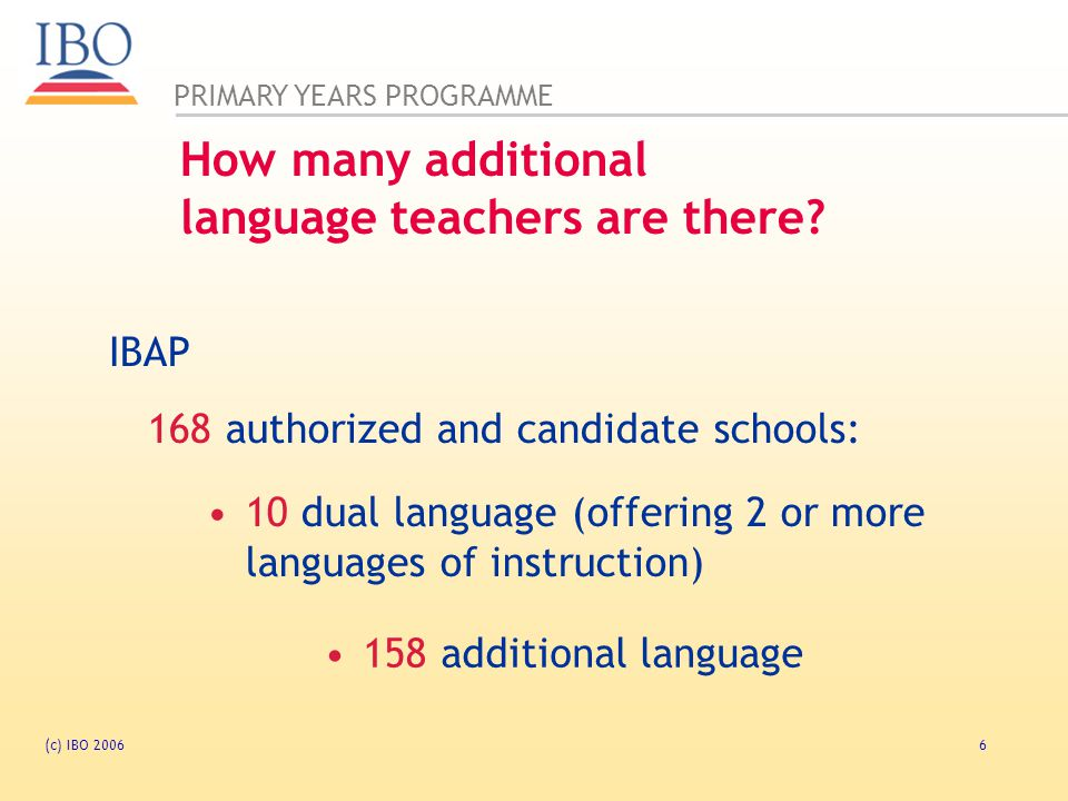 How many additional language teachers are there