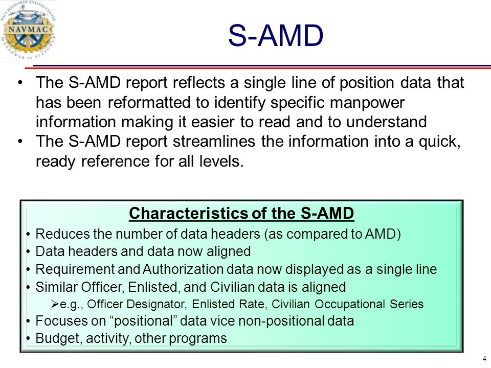 Characteristics of the S-AMD
