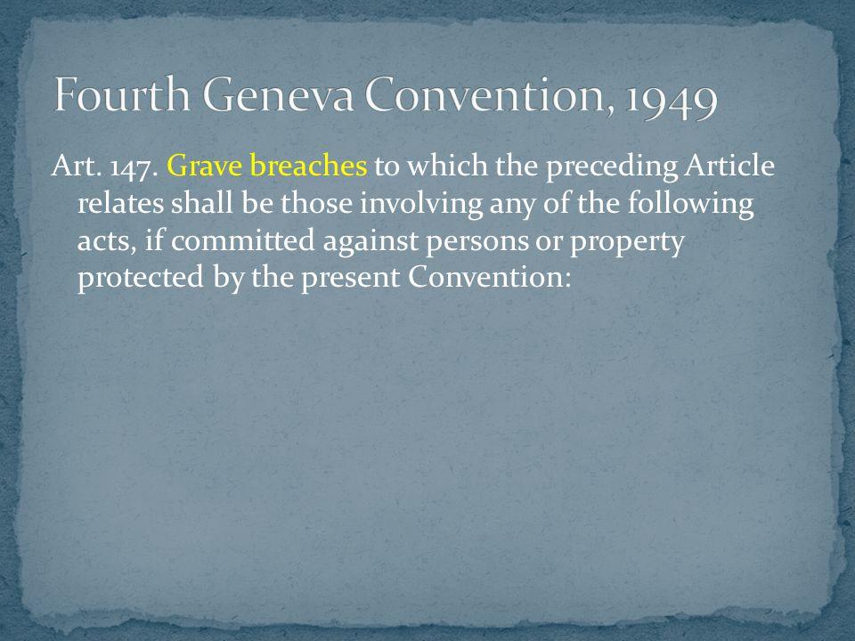 Fourth Geneva Convention, 1949