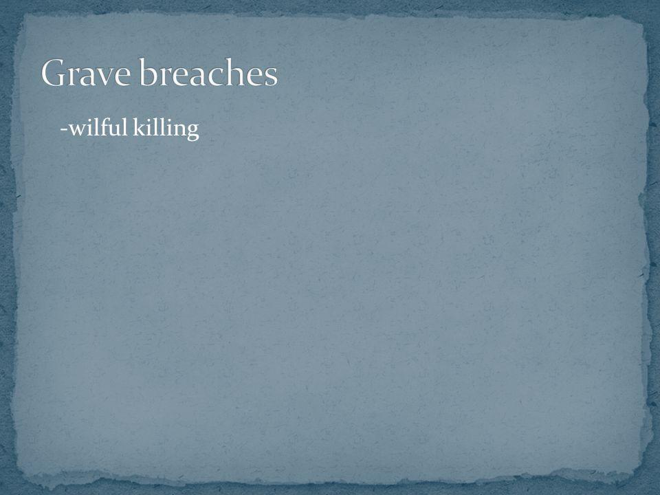 Grave breaches -wilful killing
