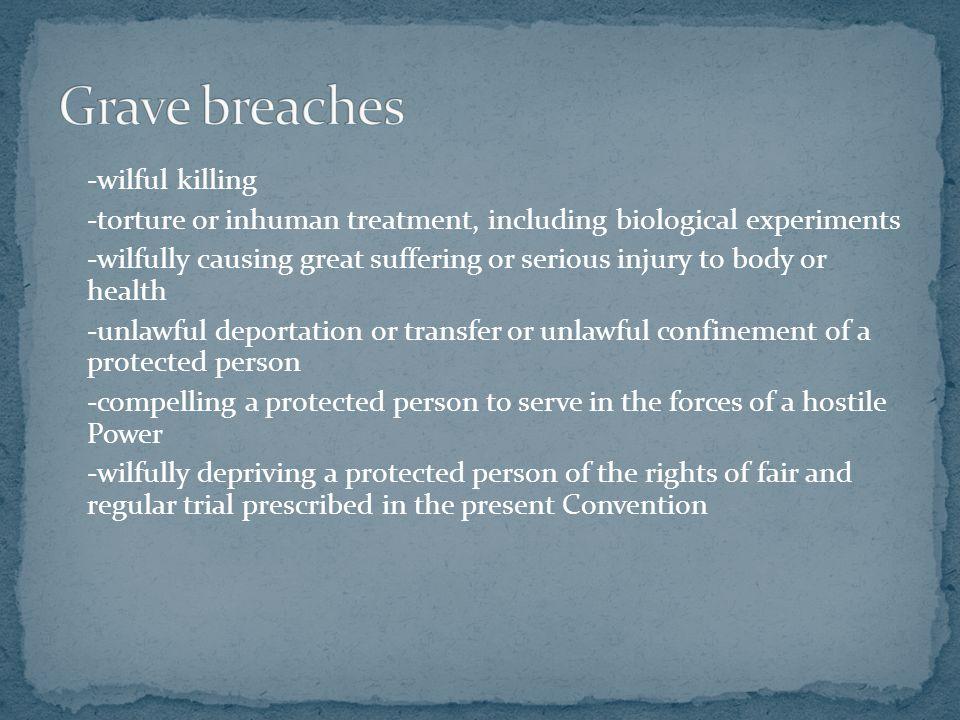 Grave breaches
