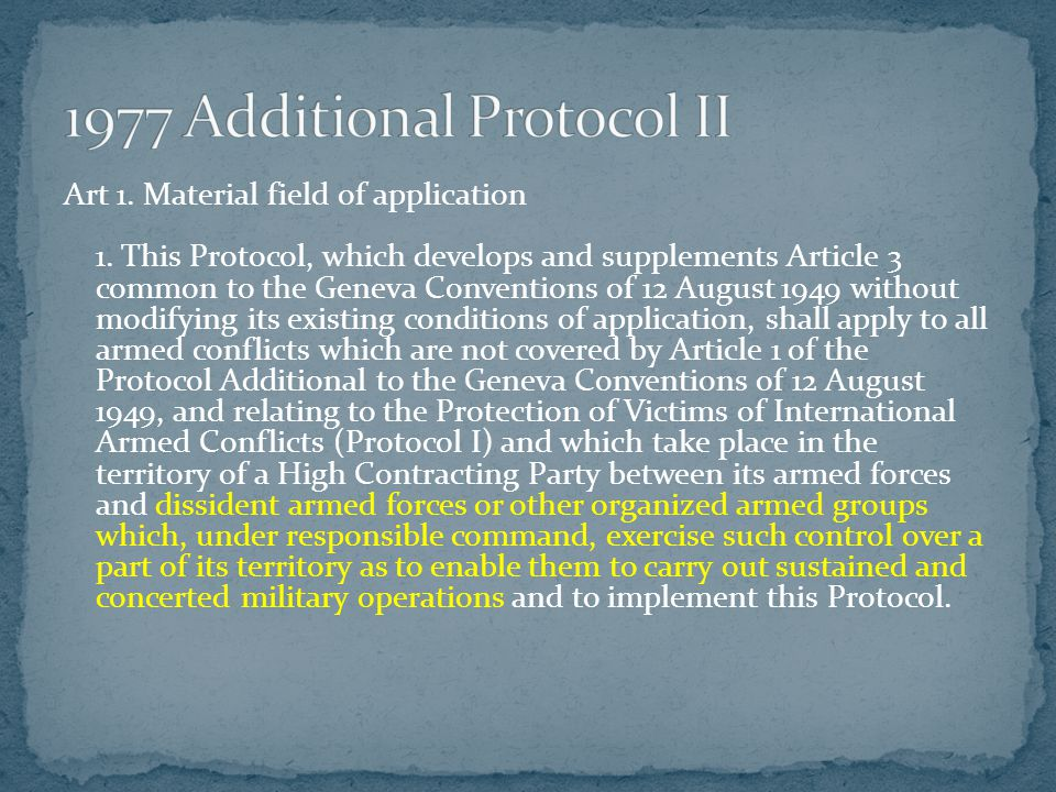 1977 Additional Protocol II
