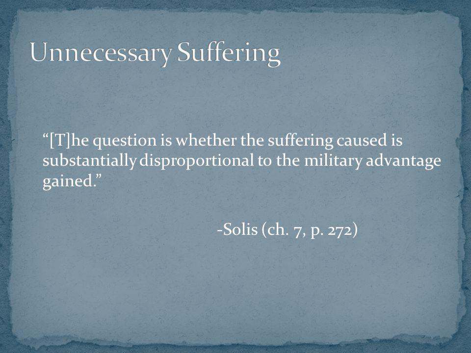 Unnecessary Suffering