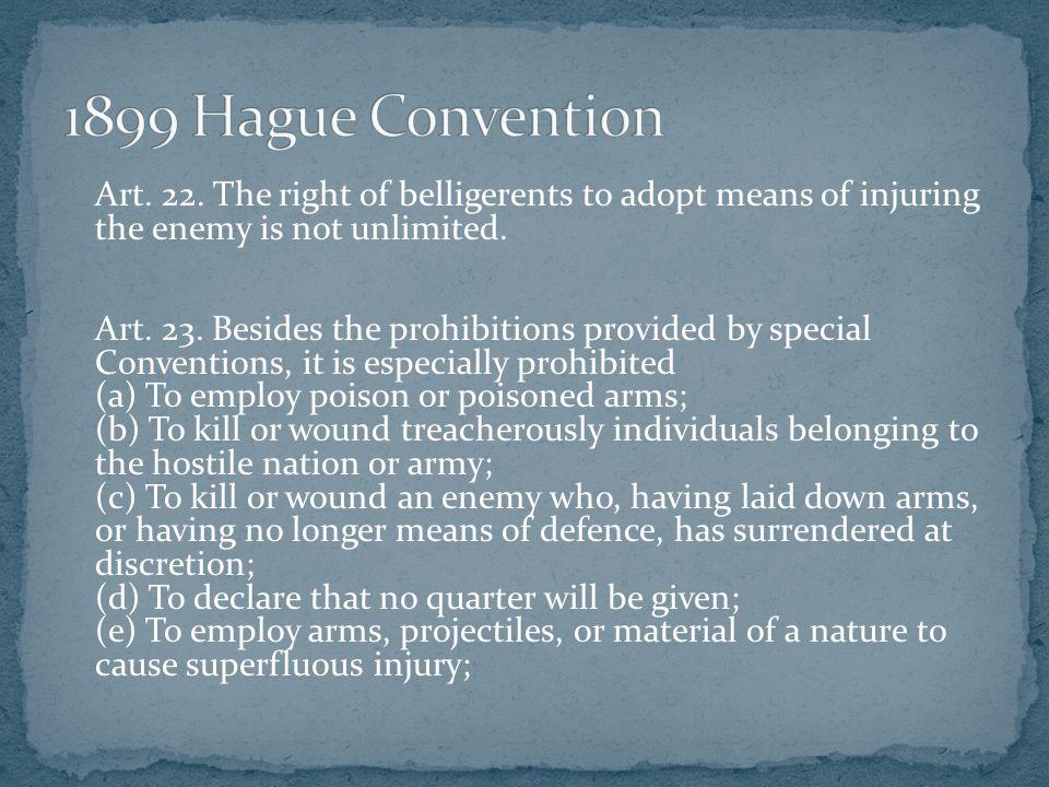 1899 Hague Convention