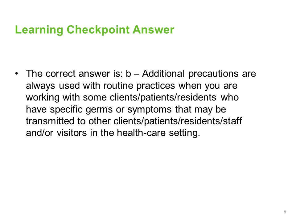Learning Checkpoint Answer