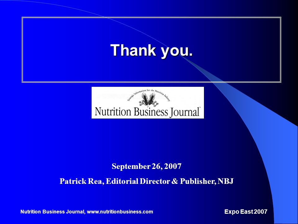 Patrick Rea, Editorial Director & Publisher, NBJ