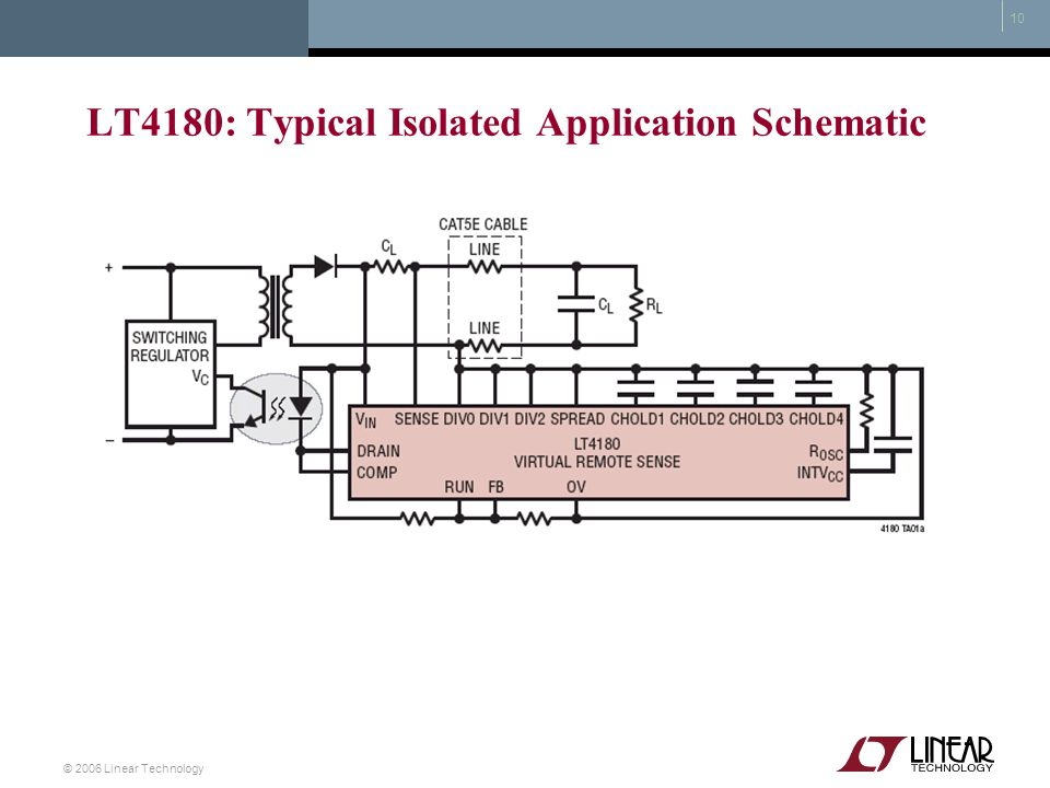 LT4180: Typical Isolated Application Schematic