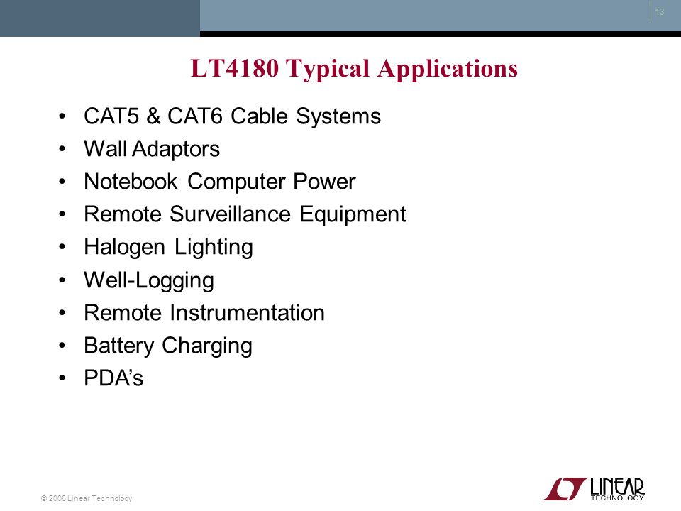LT4180 Typical Applications