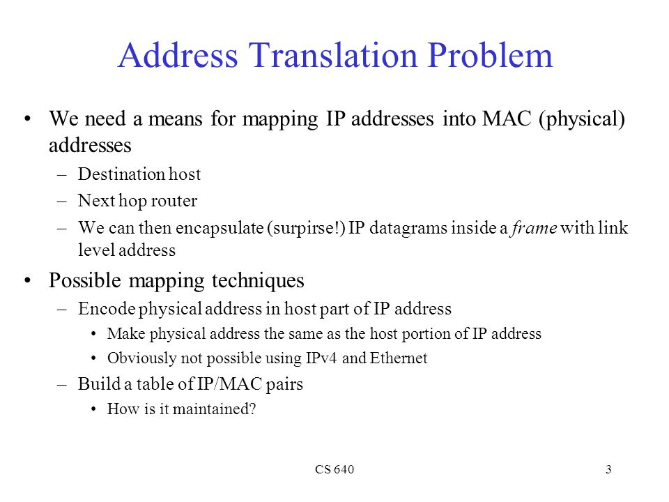Address Translation Problem