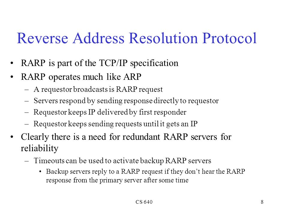 Reverse Address Resolution Protocol