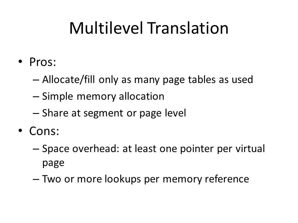 Multilevel Translation
