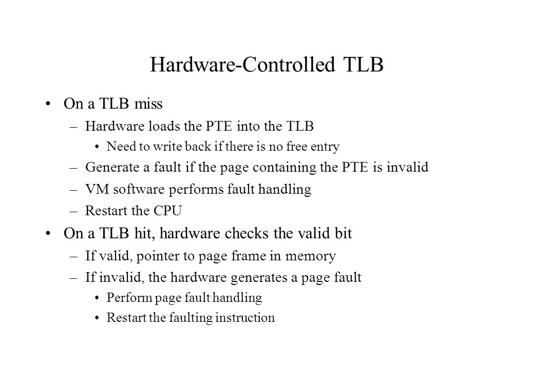 Hardware-Controlled TLB