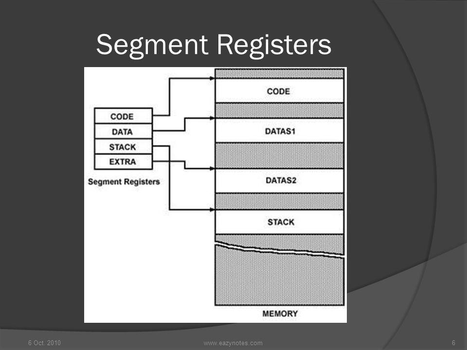 Segment Registers 6 Oct. 2010 www.eazynotes.com