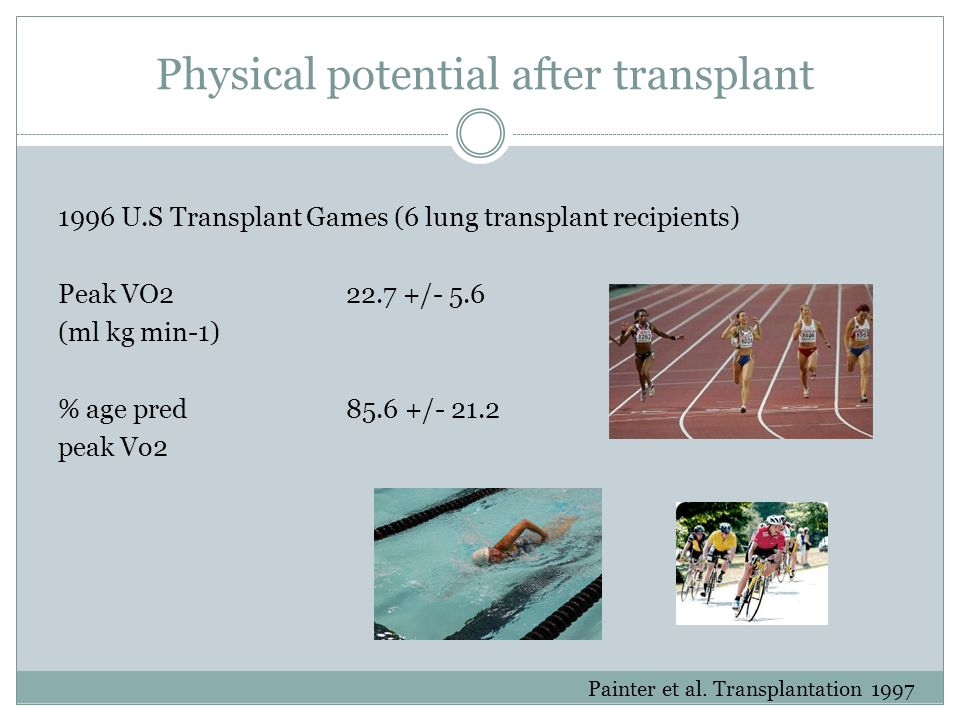 Physical potential after transplant
