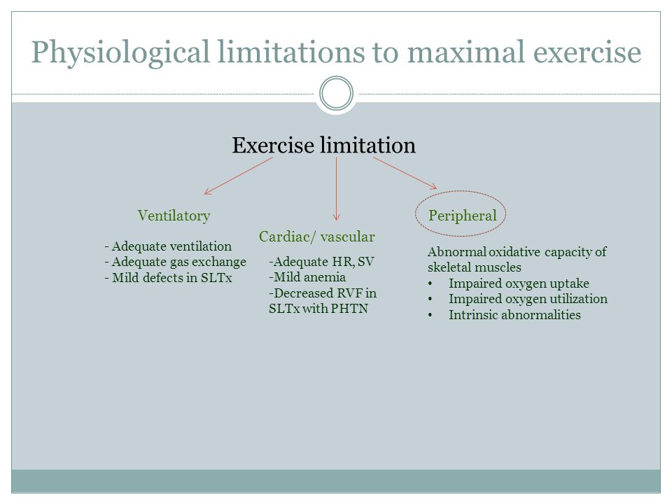 Physiological limitations to maximal exercise