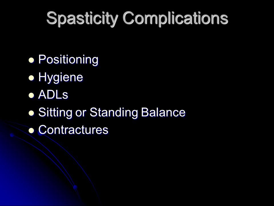 Spasticity Complications