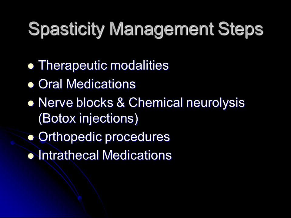 Spasticity Management Steps