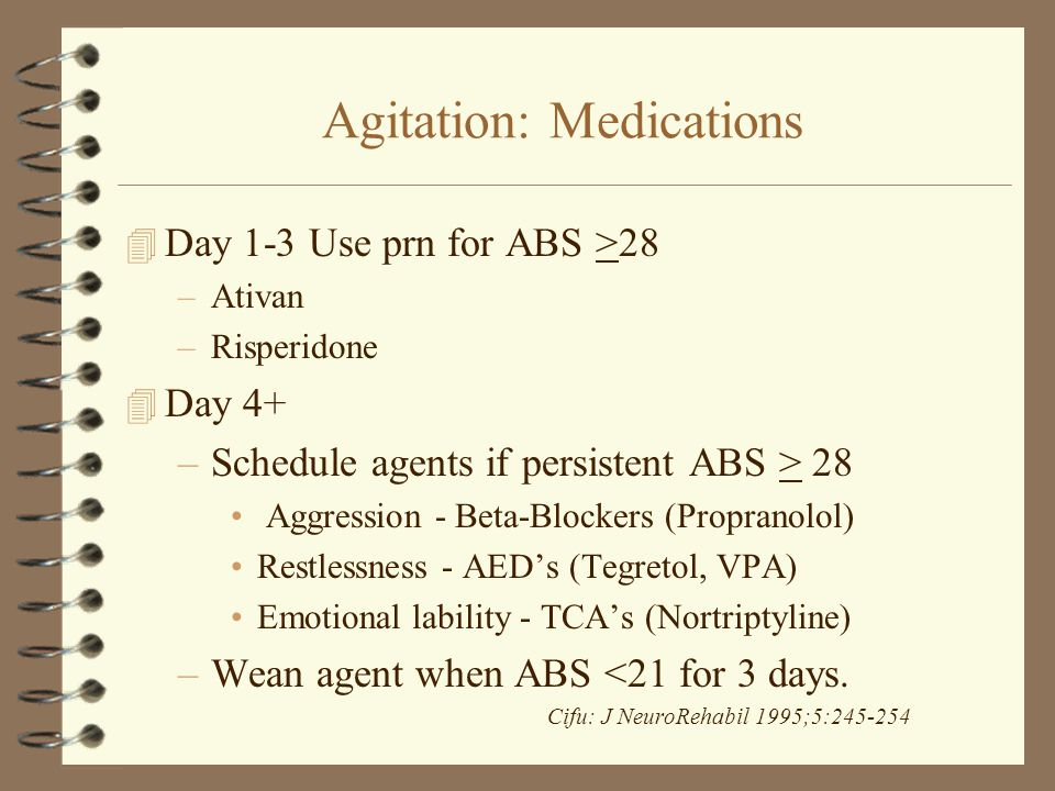 Agitation: Medications