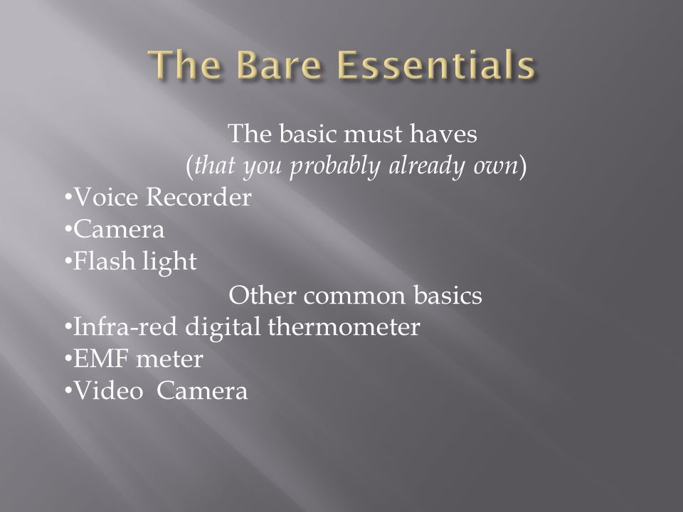 An Introduction to Ghost Hunting Equipment - ppt download