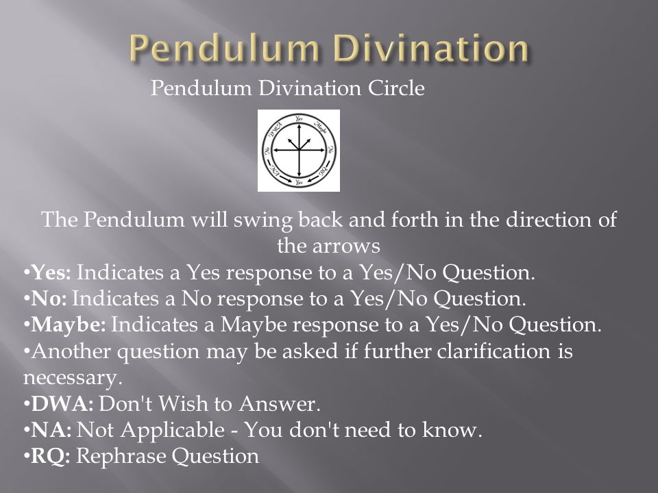 Pendulum Divination Pendulum Divination Circle