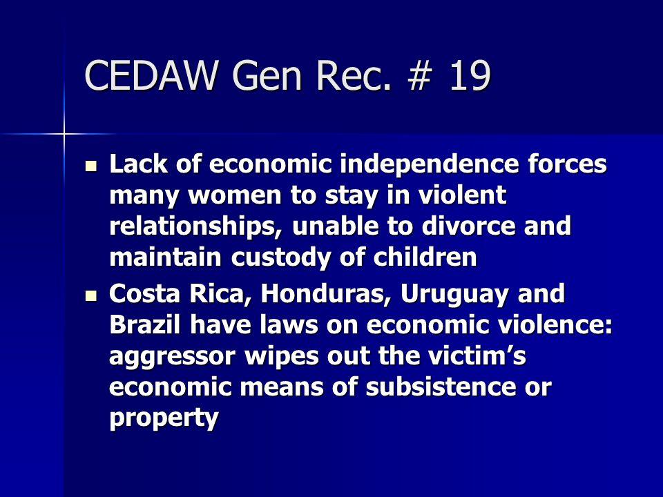CEDAW Gen Rec. # 19