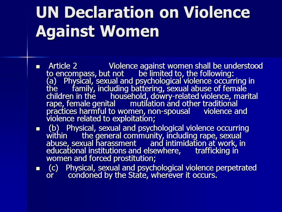 UN Declaration on Violence Against Women