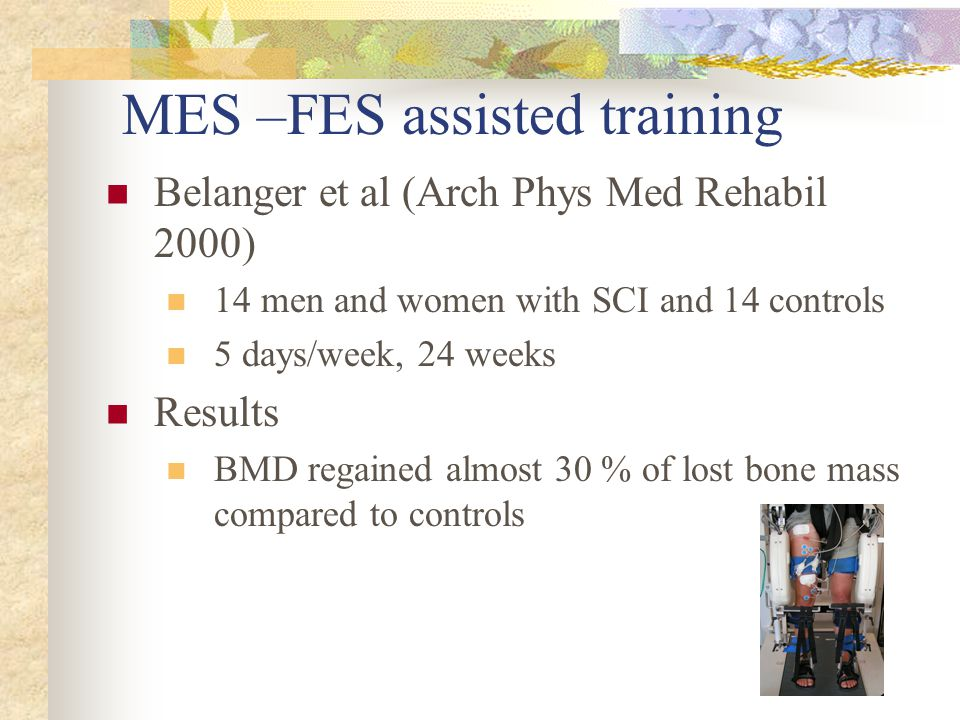 MES –FES assisted training