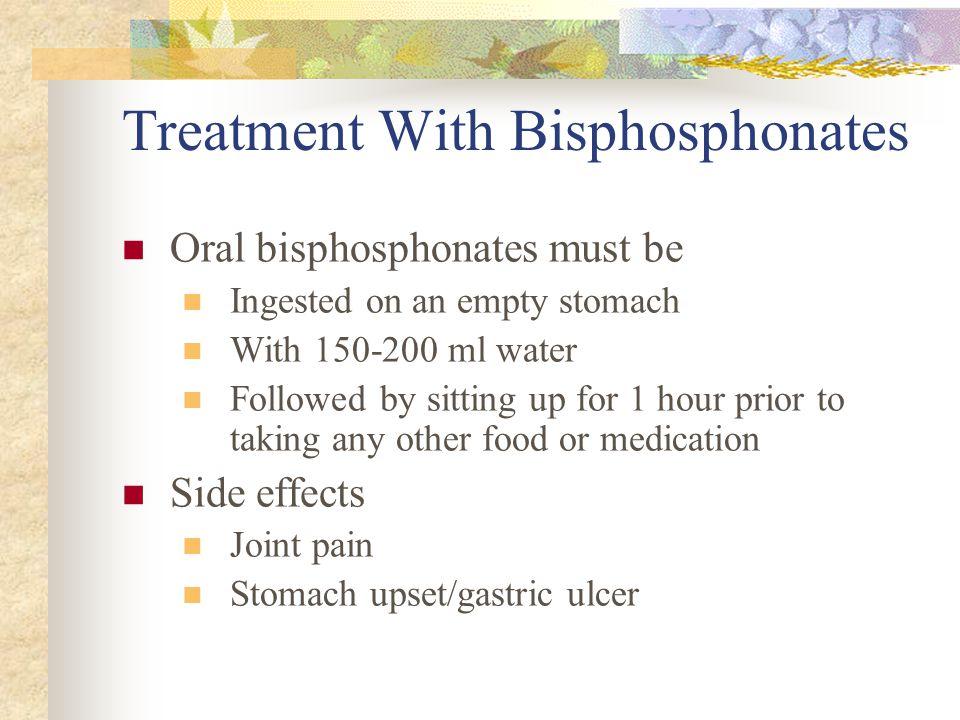 Treatment With Bisphosphonates