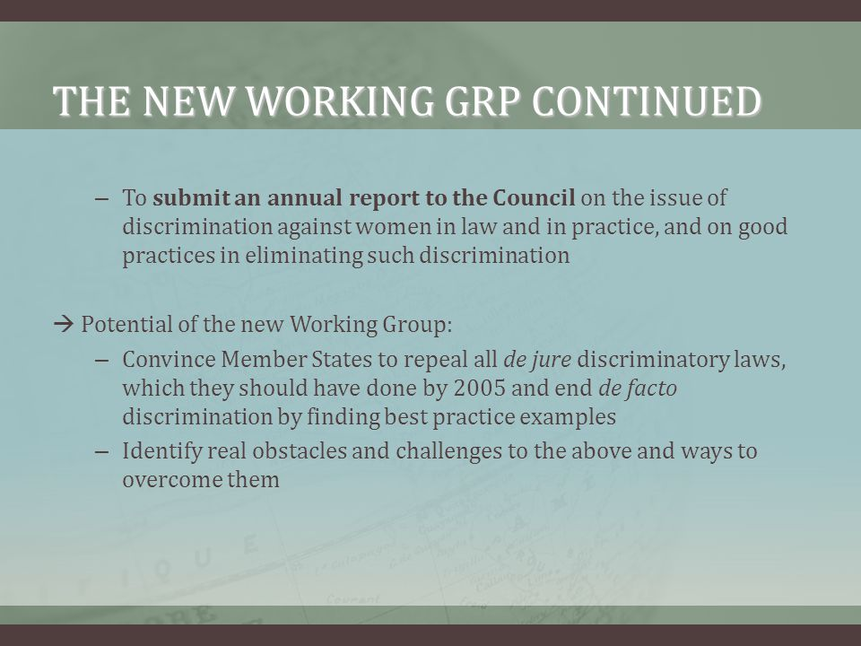 THE NEW WORKING GRP CONTINUED