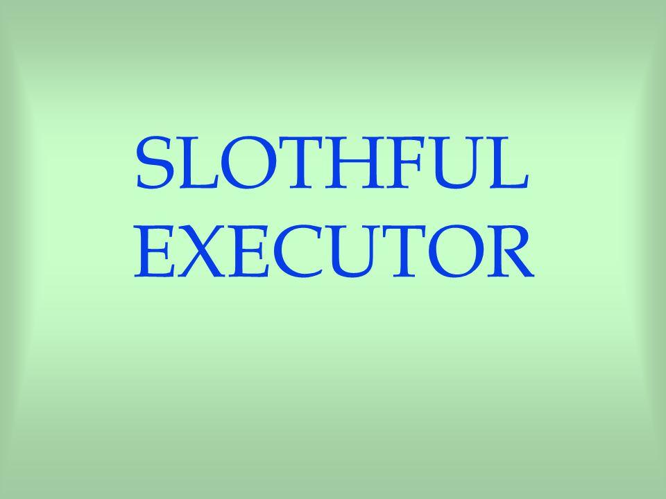 SLOTHFUL EXECUTOR