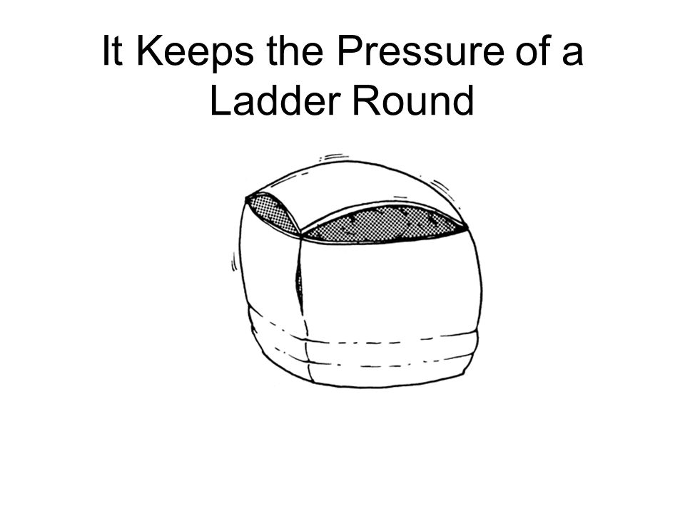 It Keeps the Pressure of a Ladder Round