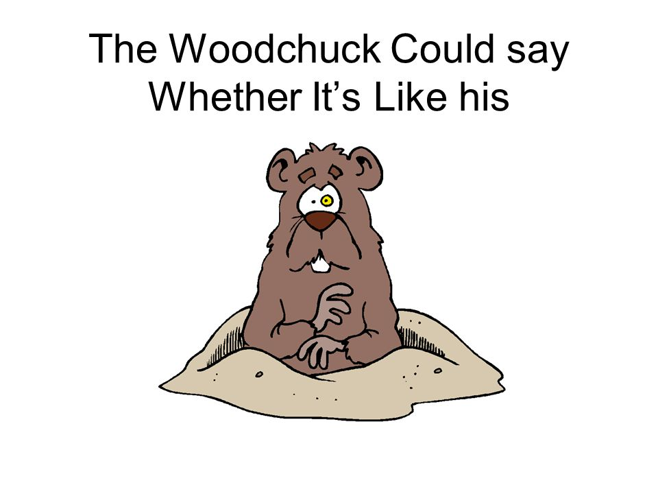 The Woodchuck Could say Whether It's Like his