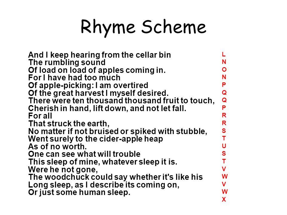 Rhyme Scheme A B C D E F G H I J