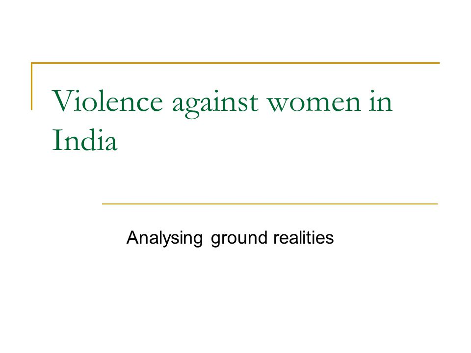 Violence against women in India