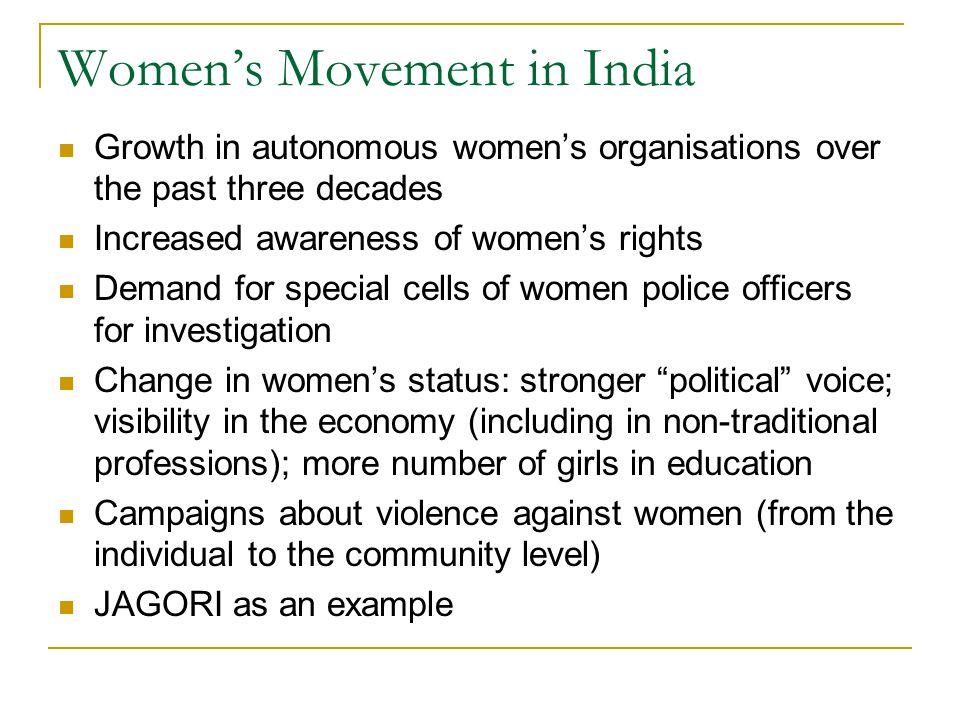 Women's Movement in India