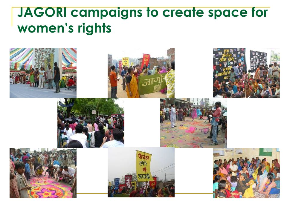 JAGORI campaigns to create space for women's rights