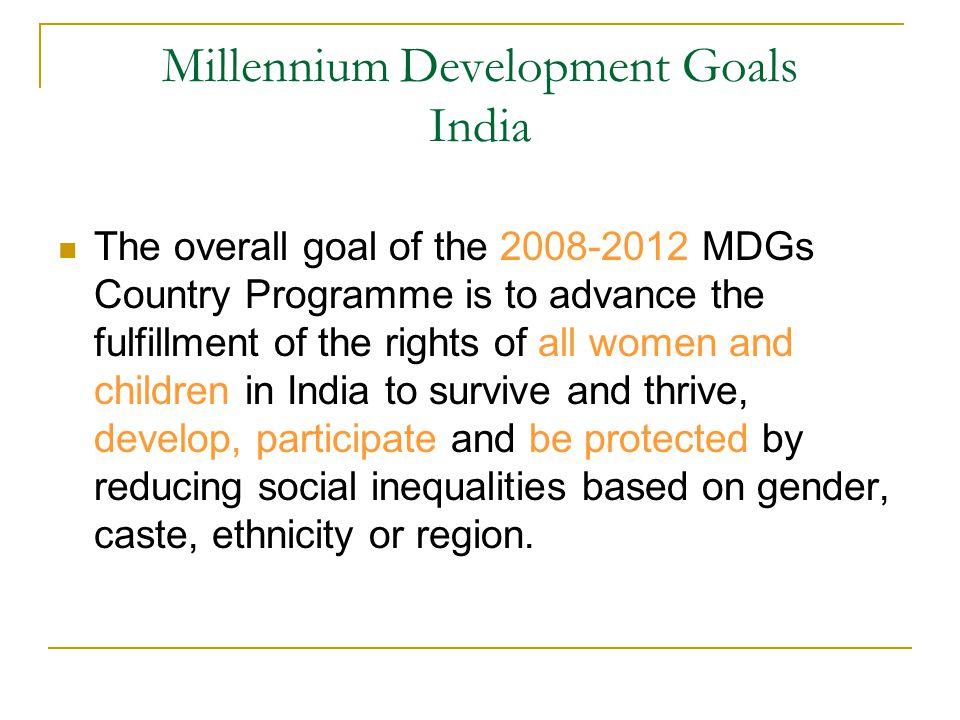 Millennium Development Goals India