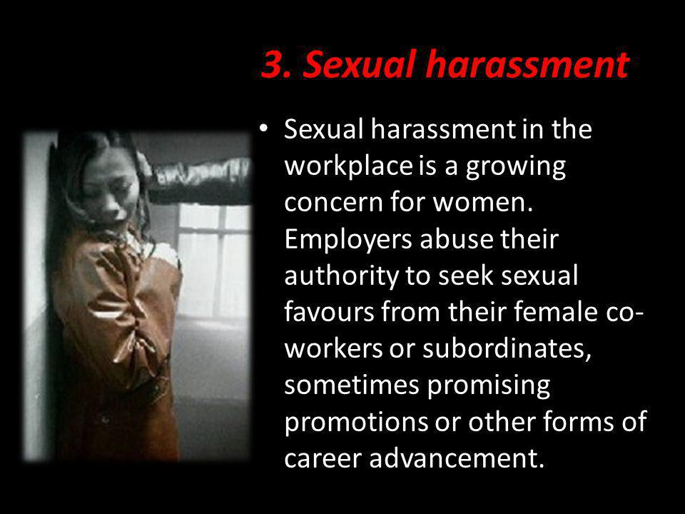3. Sexual harassment
