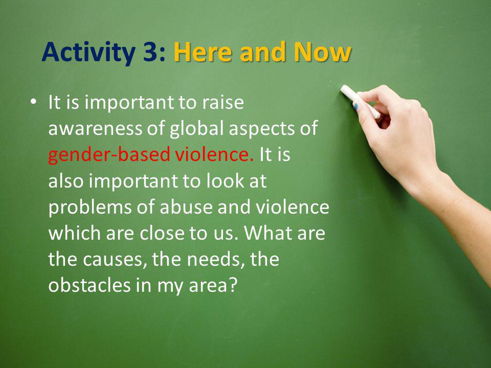 Activity 3: Here and Now