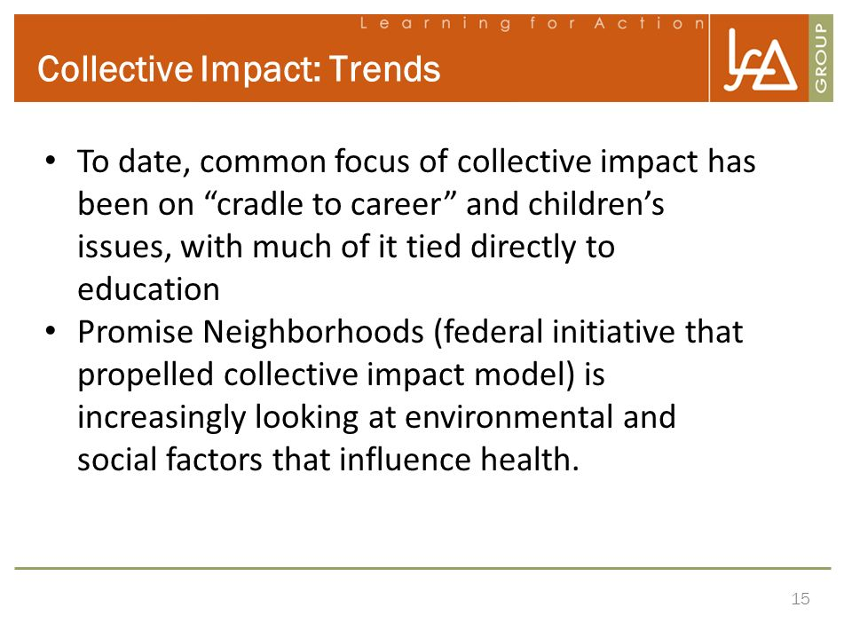 Collective Impact: Trends
