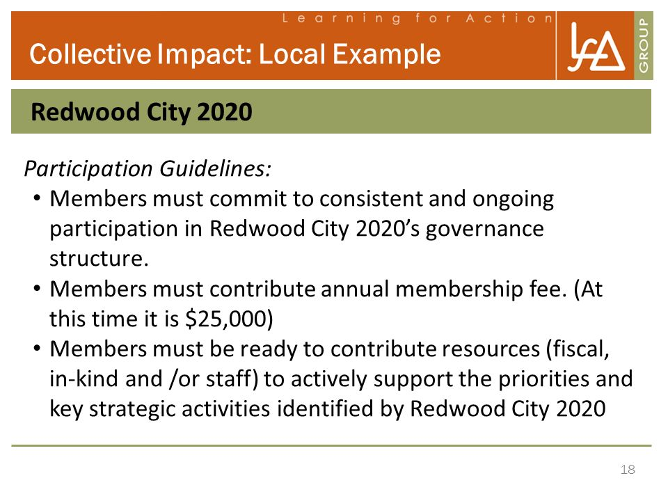 Collective Impact: Local Example